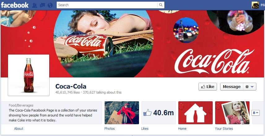 Coca Cola Facebook Timeline