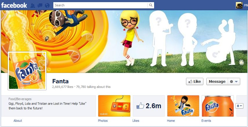 Fanta Facebook Brand Timeline