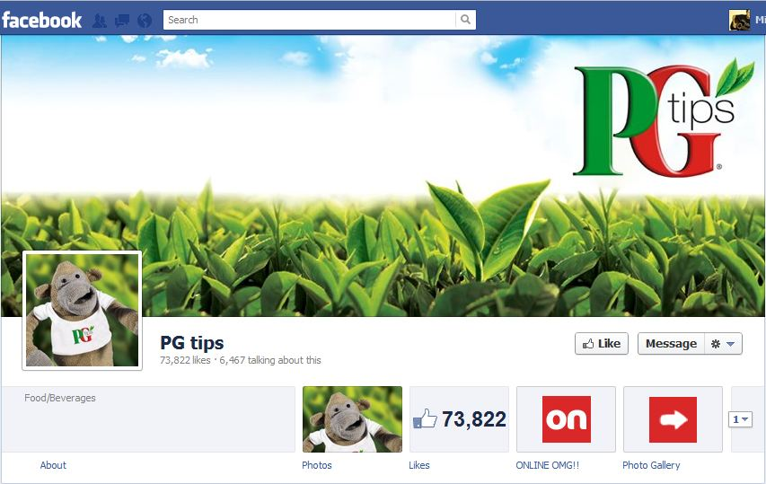 PG Tips Facebook Brand Timeline