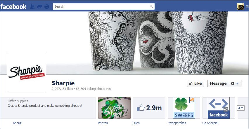Sharpie Facebook Brand Timeline