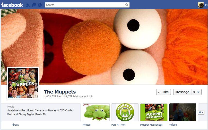 The Muppets Facebook Brand Timeline