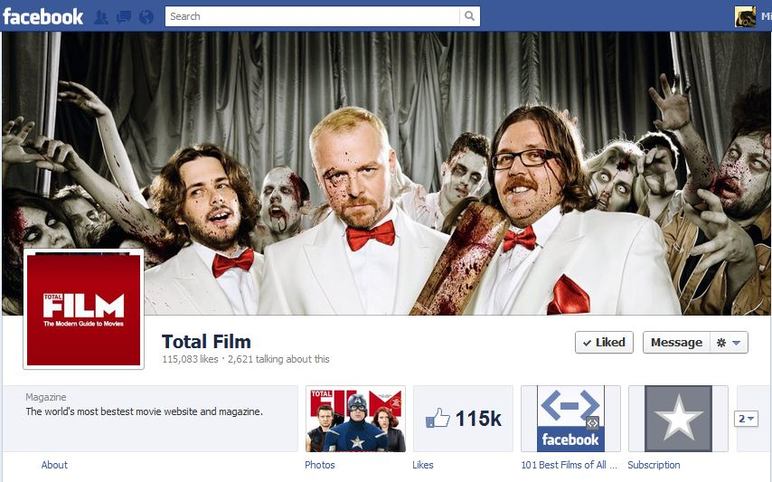 Total Film Facebook Brand Timeline