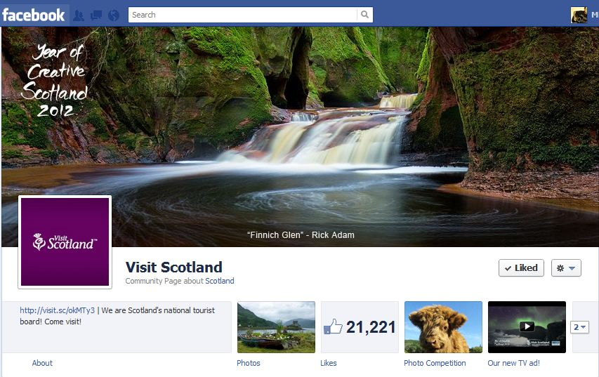 VisitScotland Facebook Brand Timeline