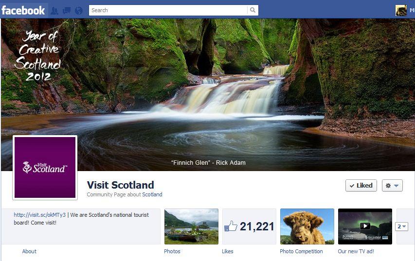 VisitScotland Facebook Brand Timeline